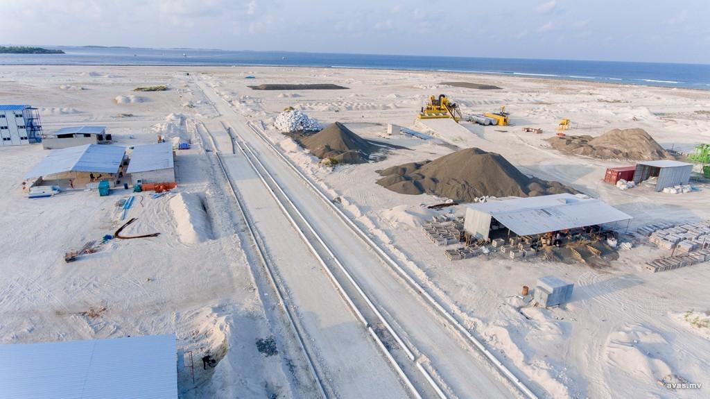 Road construction - Hulhumalé Phase 2