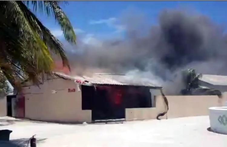 Fire in Maabiadhoo