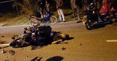 motorbike smashed