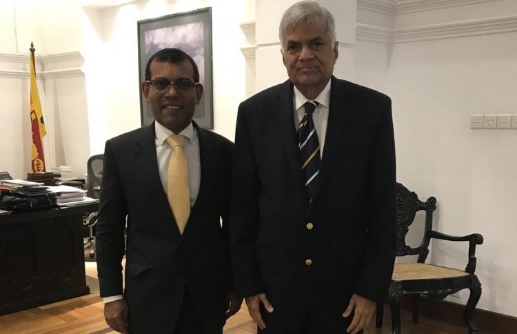 Nasheed with Ranil