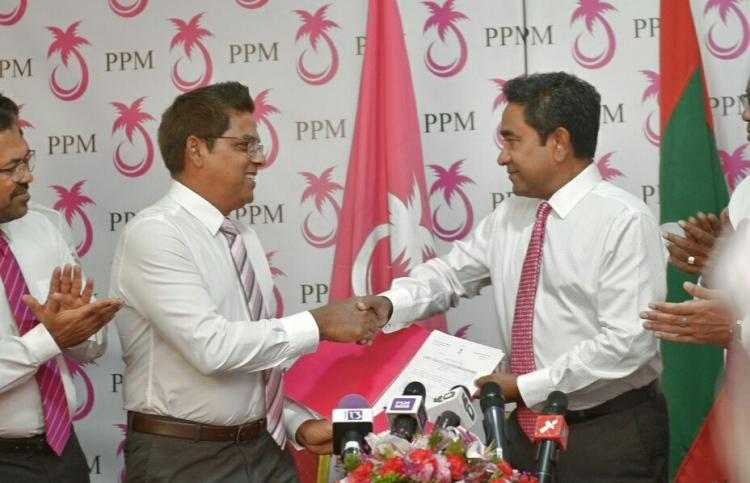 Deputy Speaker Moosa with President